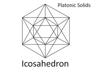 Icosahedron: Platonic solid used in Sacred Geometry